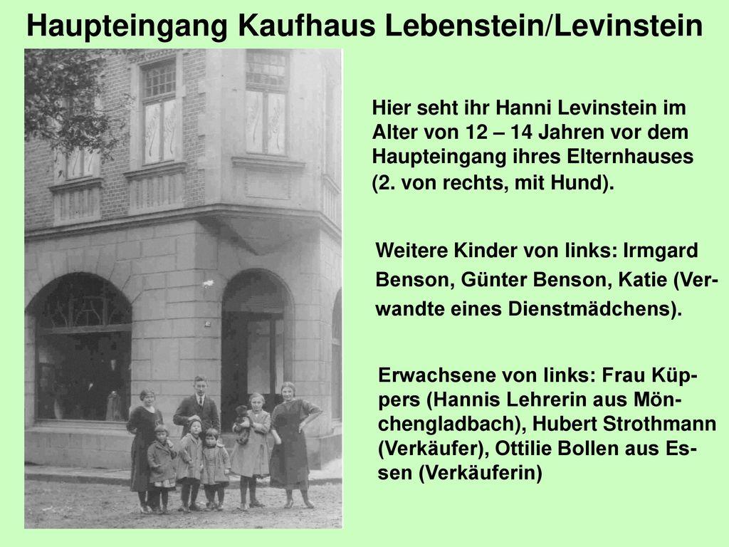 Haupteingang Kaufhaus Lebenstein/Levinstein
