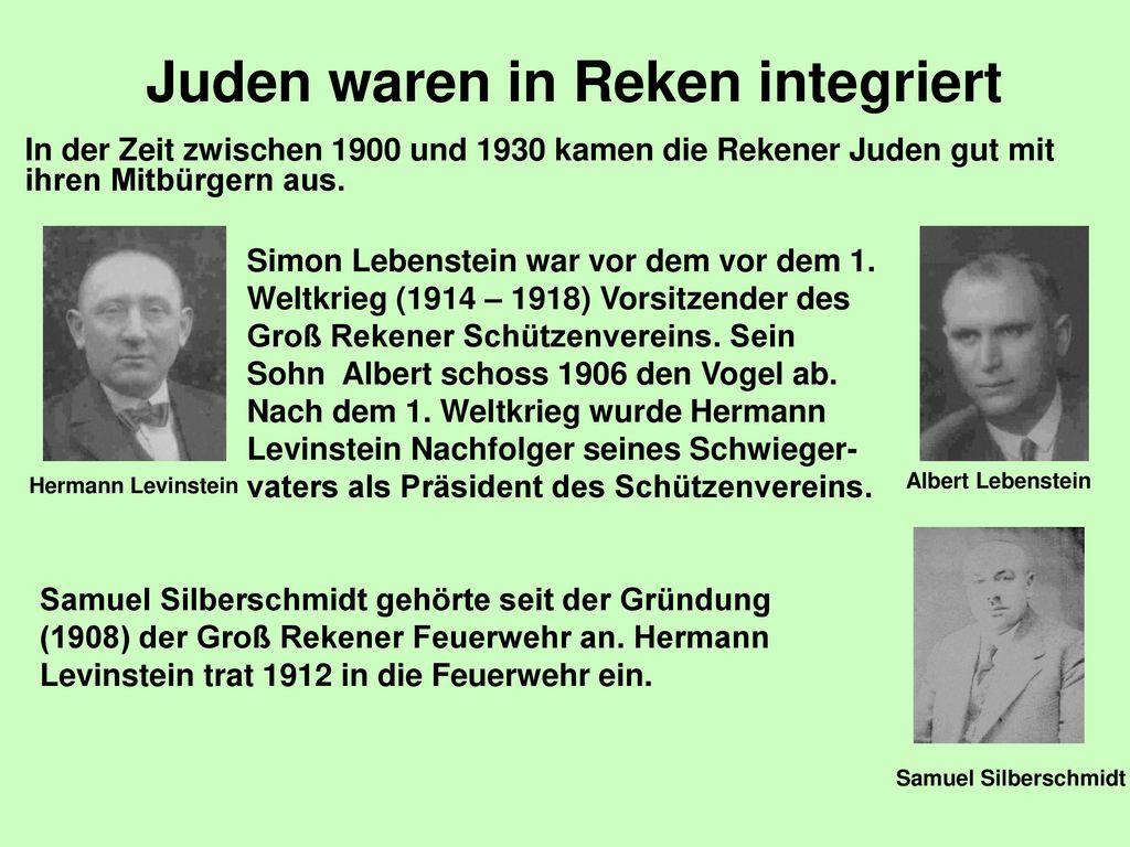 Juden waren in Reken integriert