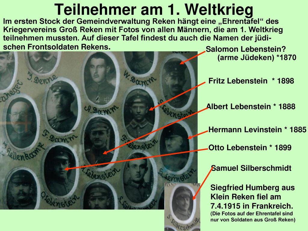 Teilnehmer am 1. Weltkrieg