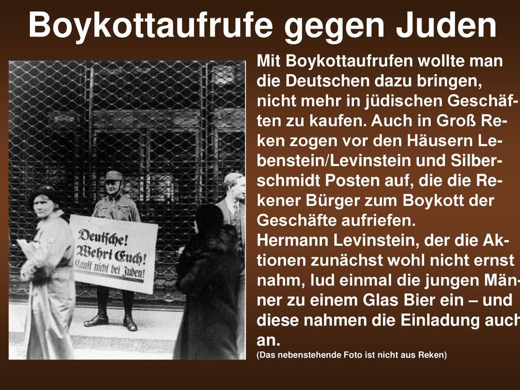 Boykottaufrufe gegen Juden
