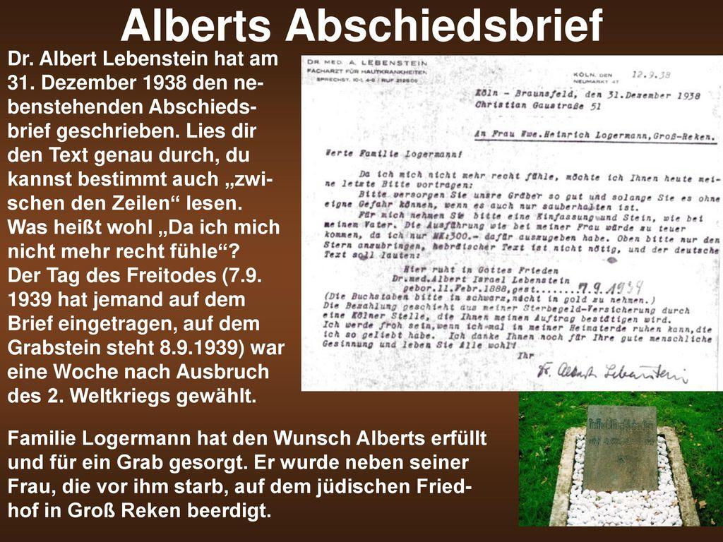 Alberts Abschiedsbrief