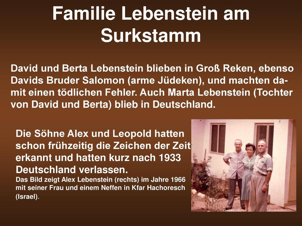 Familie Lebenstein am Surkstamm