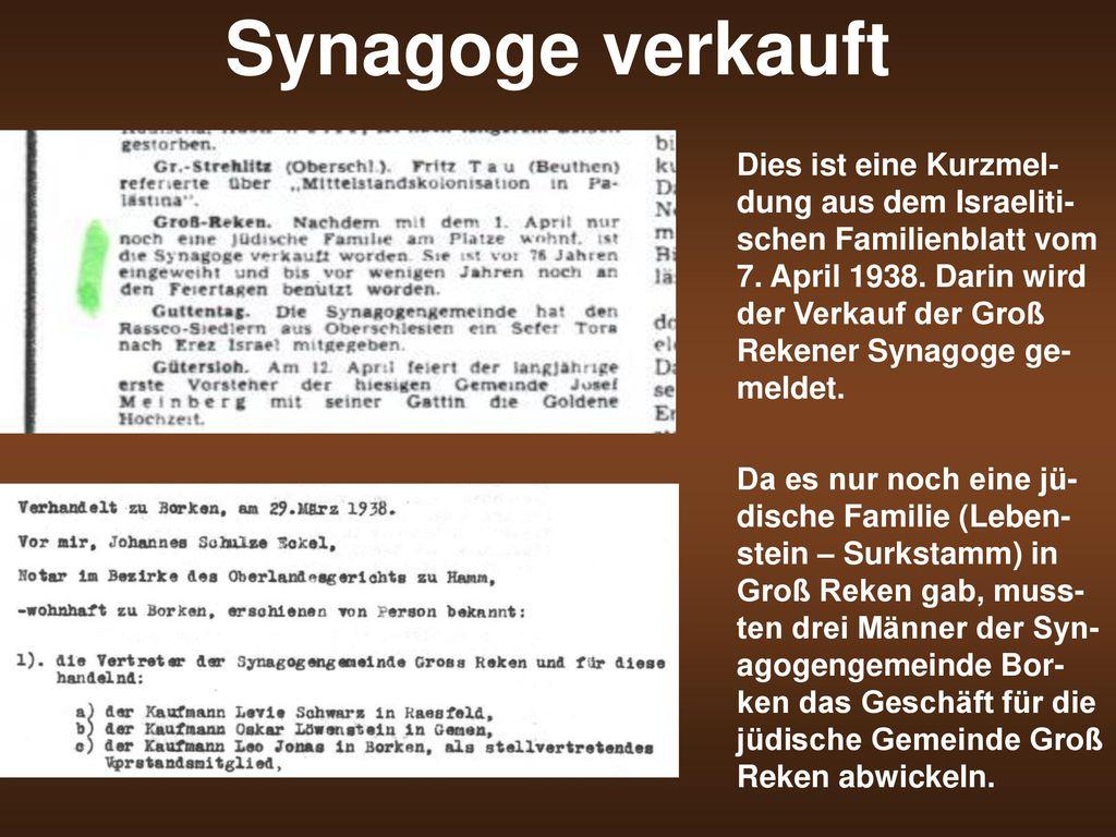 Synagoge verkauft
