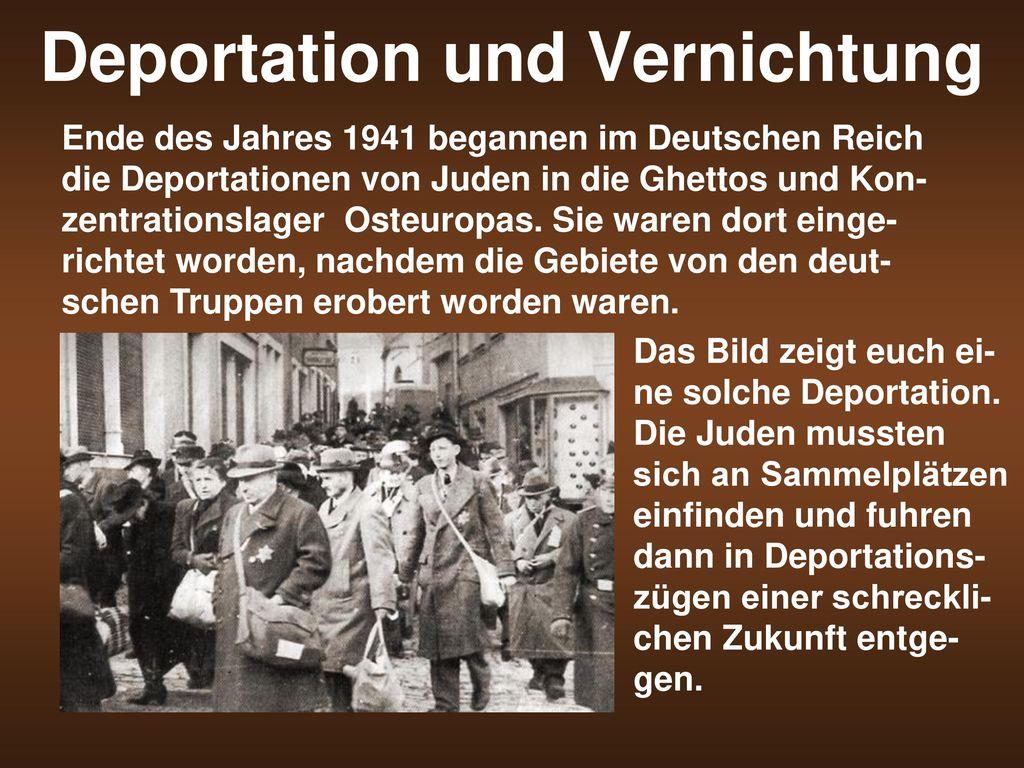 Deportation und Vernichtung