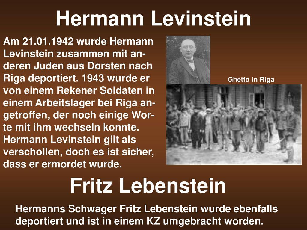 Hermann Levinstein Fritz Lebenstein