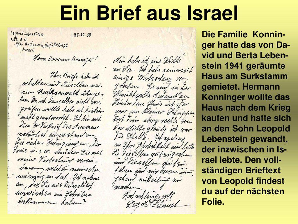 Ein Brief aus Israel