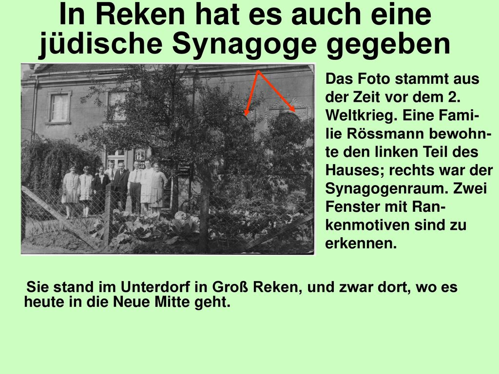 In Reken hat es auch eine jüdische Synagoge gegeben