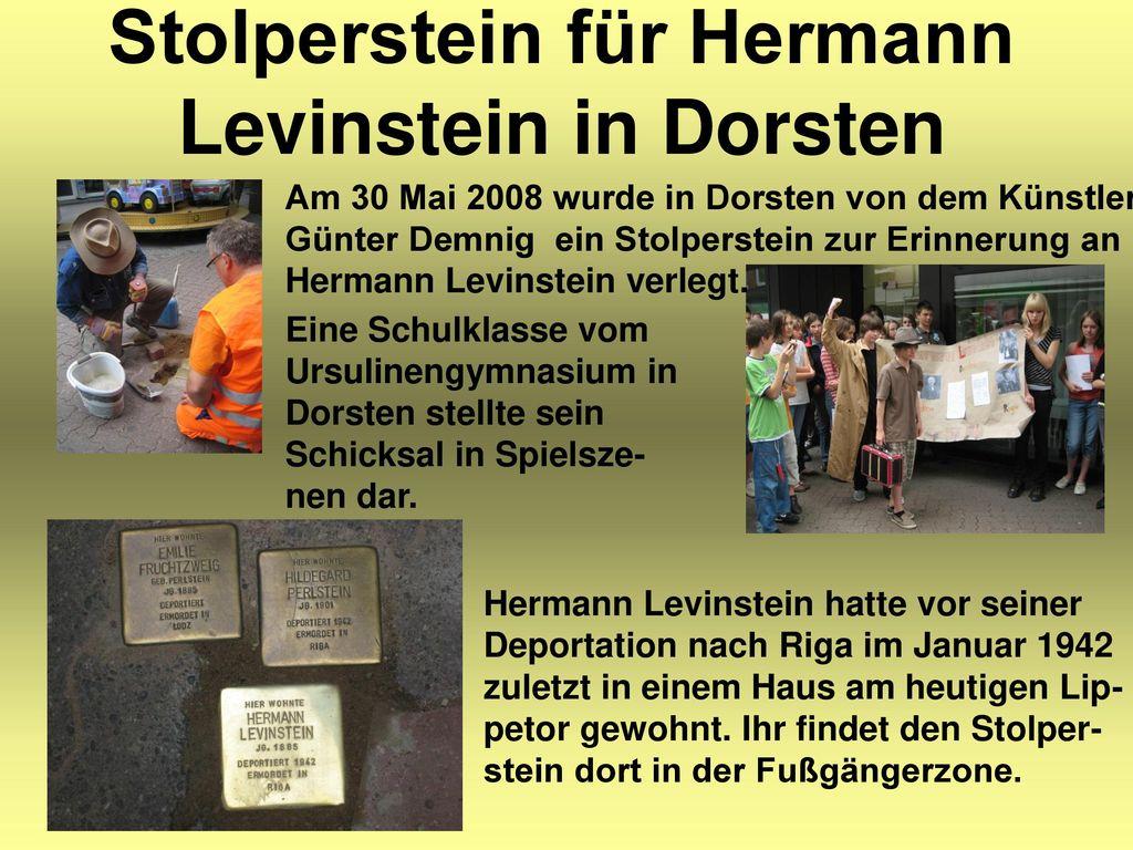 Stolperstein für Hermann Levinstein in Dorsten