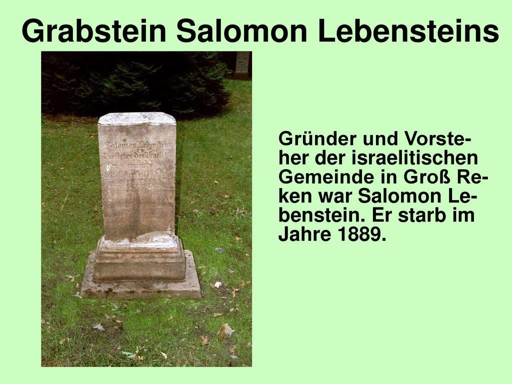 Grabstein Salomon Lebensteins