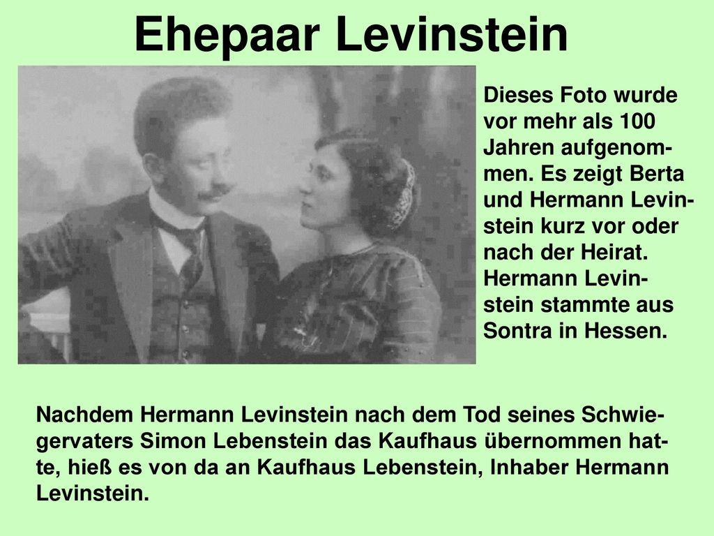 Ehepaar Levinstein