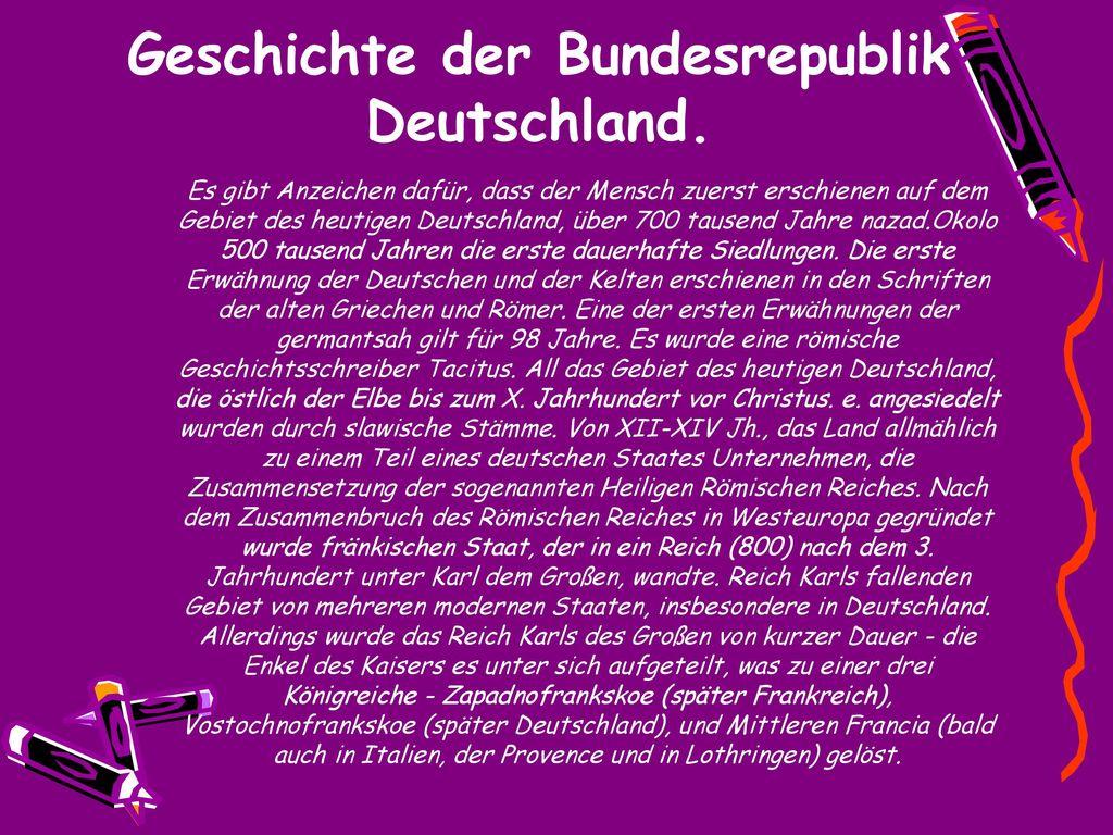 bundesrepublik deutschland geschichte