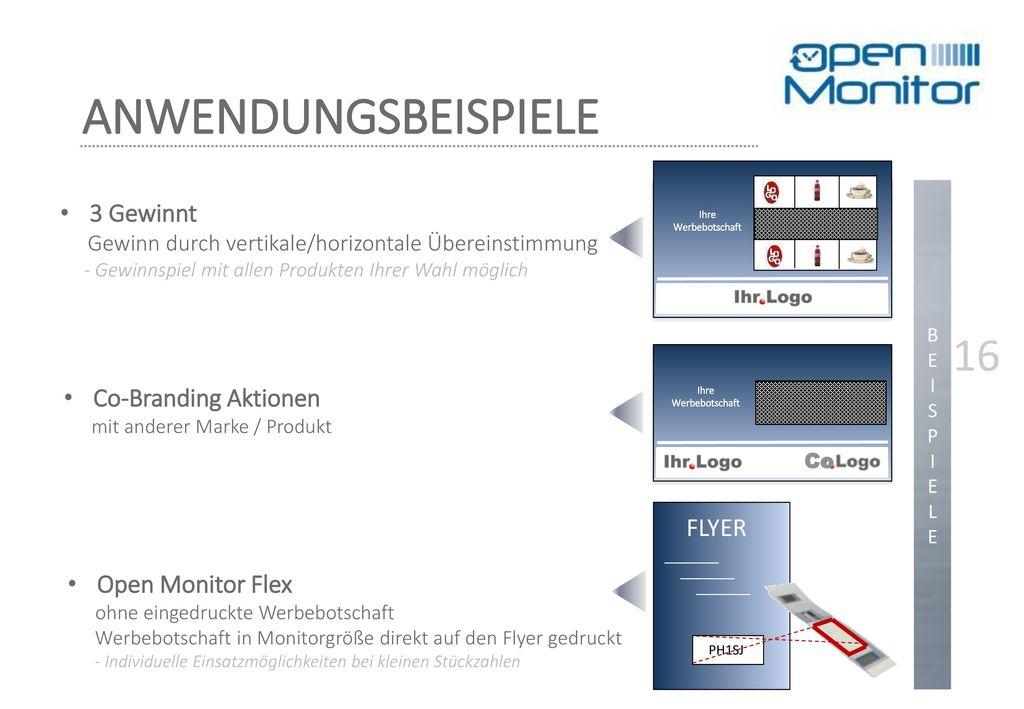 ANWENDUNGSBEISPIELE 16 3 Gewinnt Co-Branding Aktionen FLYER
