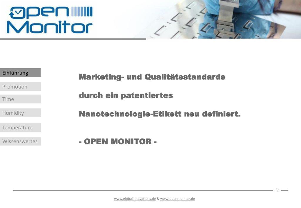Marketing- und Qualitätsstandards durch ein patentiertes