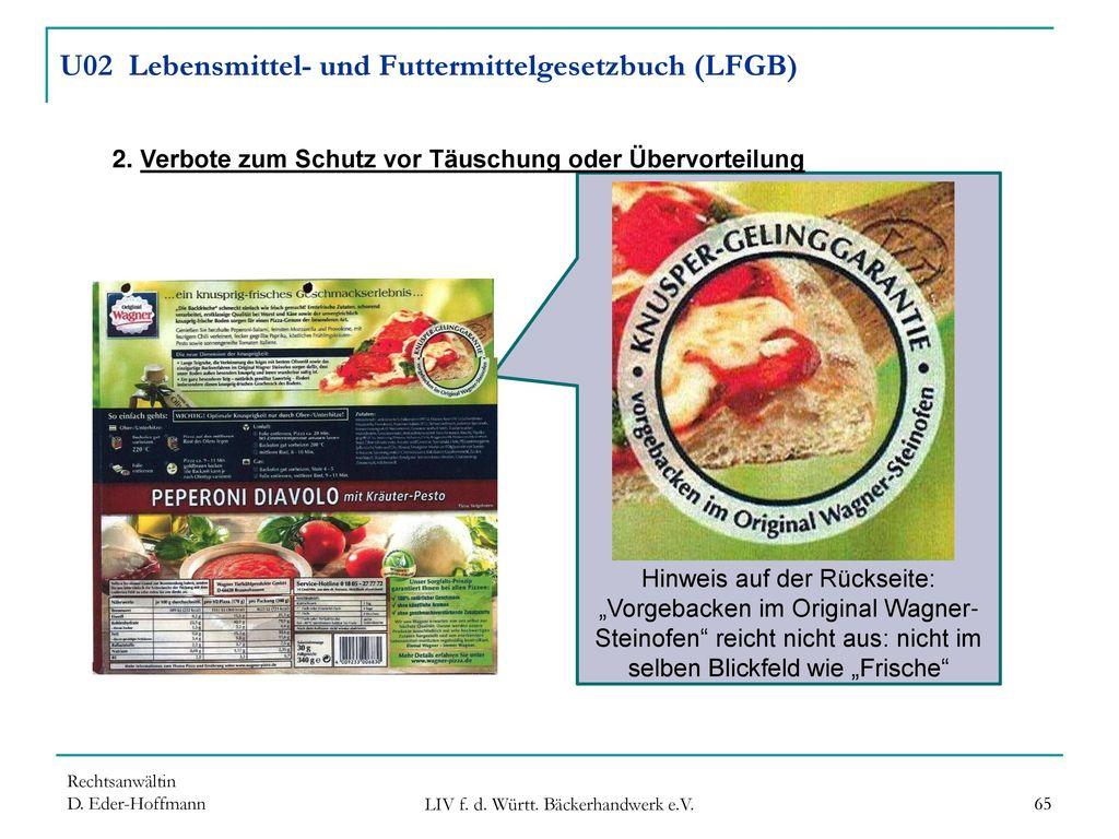 U02 Lebensmittel- und Futtermittelgesetzbuch (LFGB)
