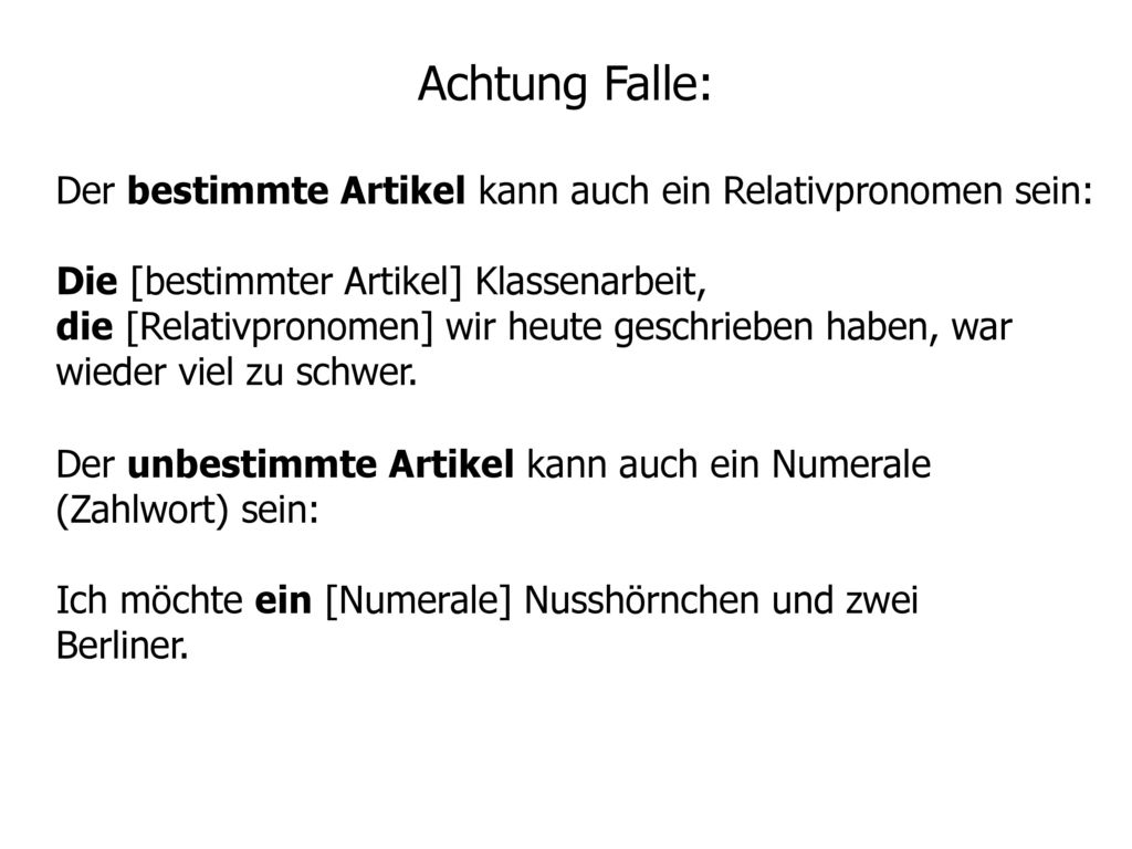 Achtung Falle: