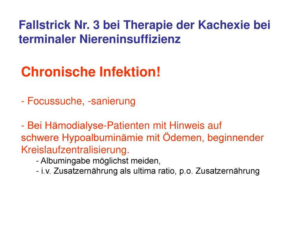 Fallstrick Nr. 3 bei Therapie der Kachexie bei terminaler Niereninsuffizienz