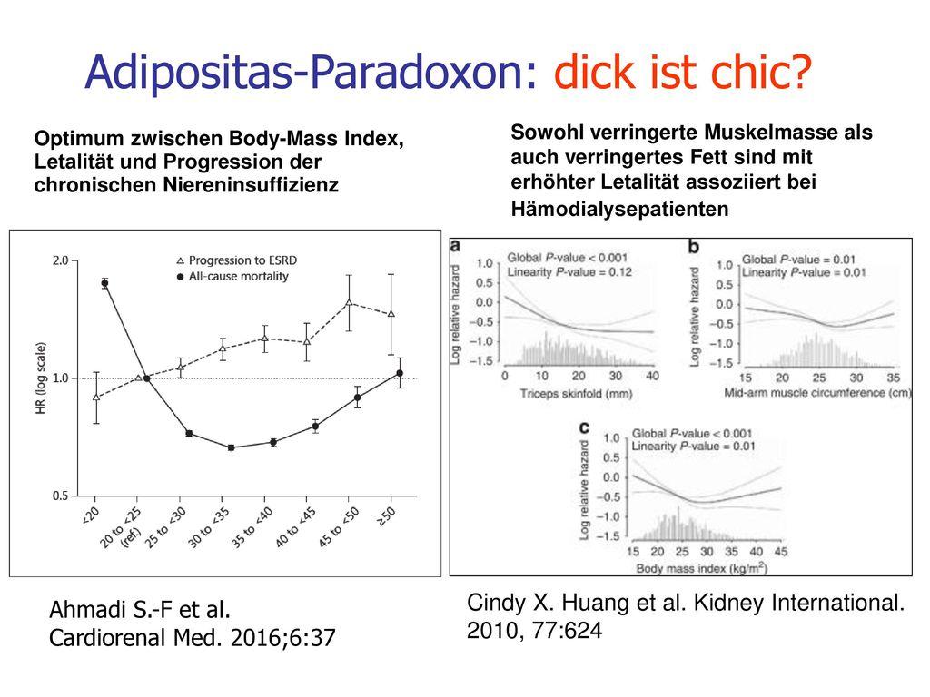 Adipositas-Paradoxon: dick ist chic
