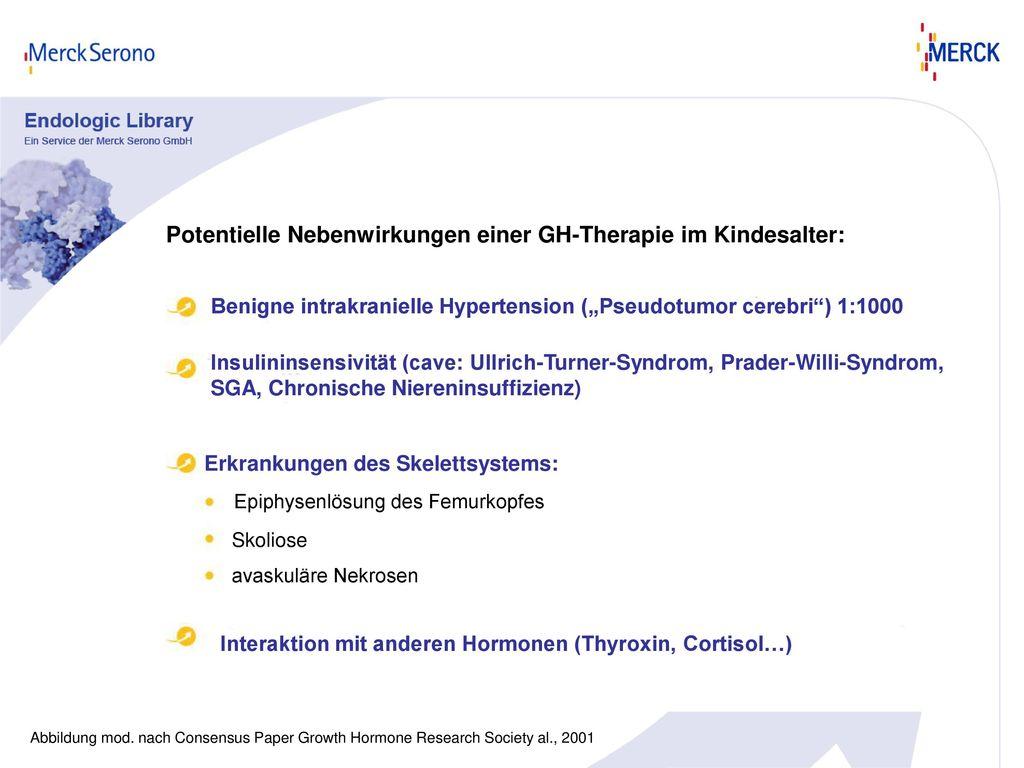Potentielle Nebenwirkungen einer GH-Therapie im Kindesalter: