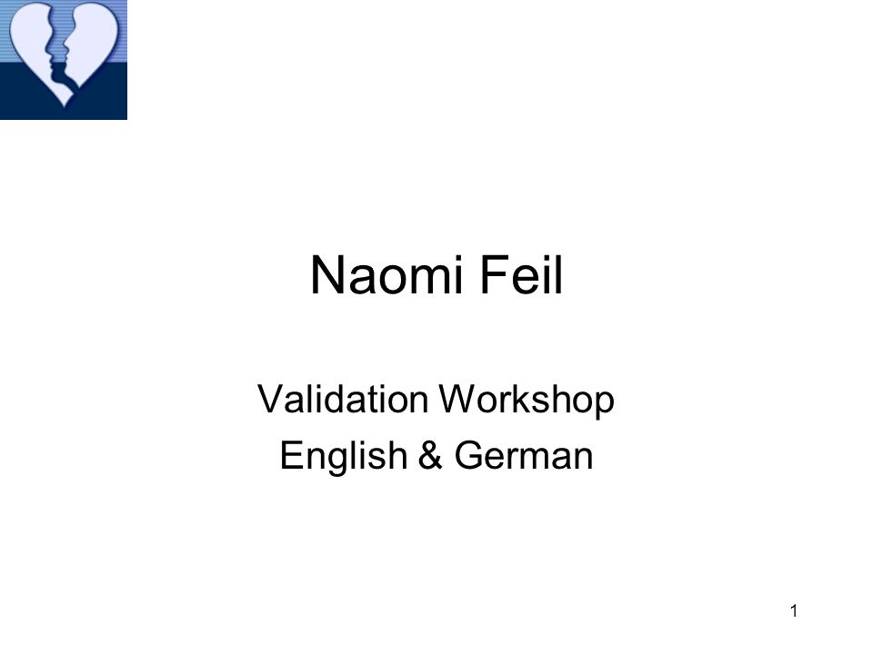 Validation Workshop English & German