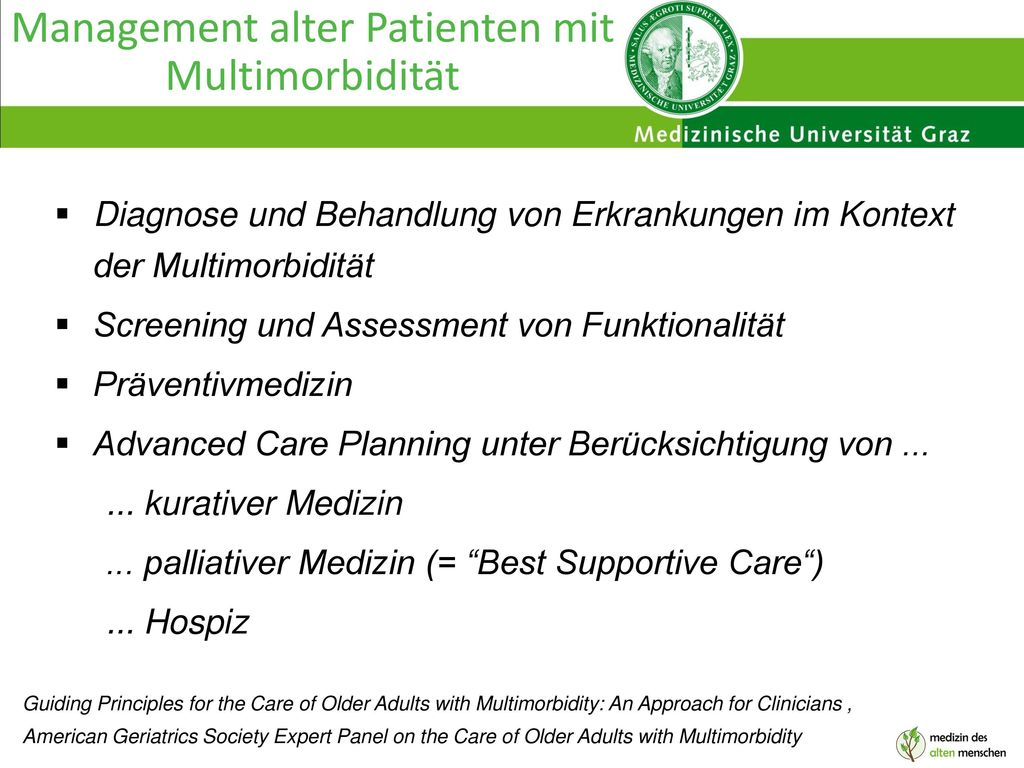 Management alter Patienten mit Multimorbidität