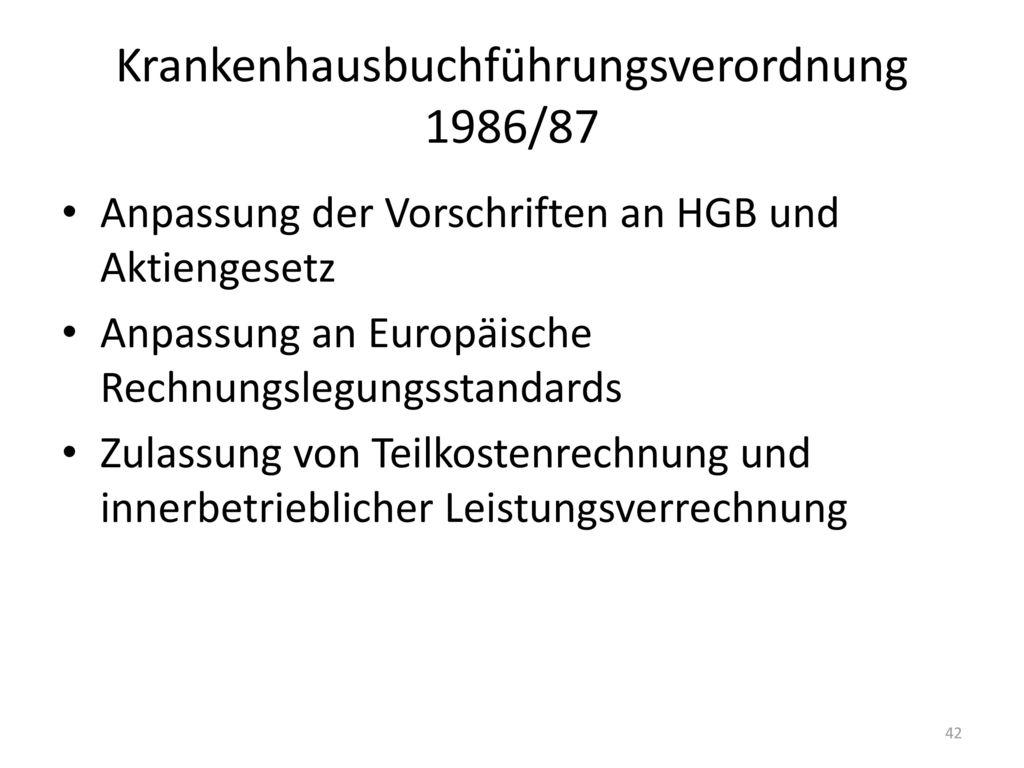 Krankenhausbuchführungsverordnung 1986/87