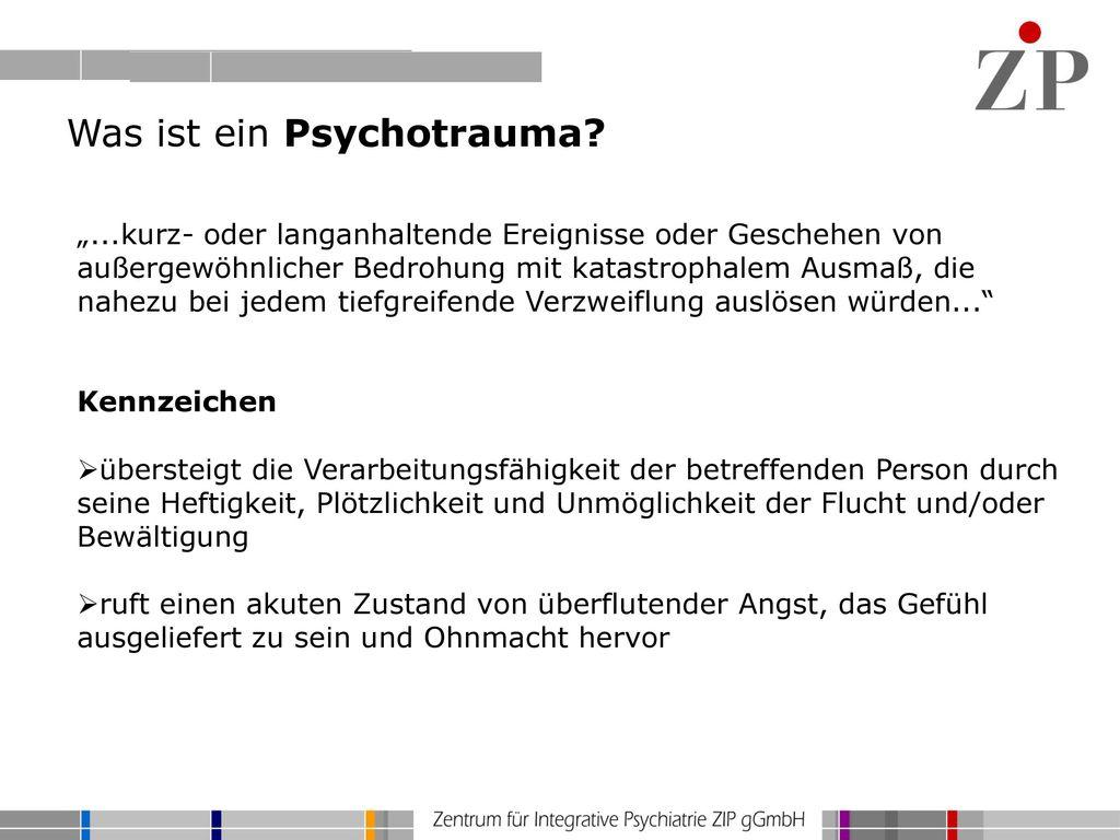 Was ist ein Psychotrauma