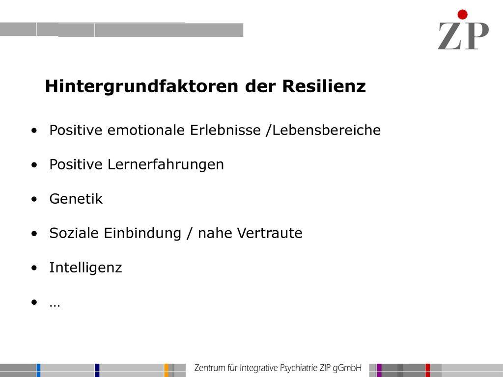 Hintergrundfaktoren der Resilienz