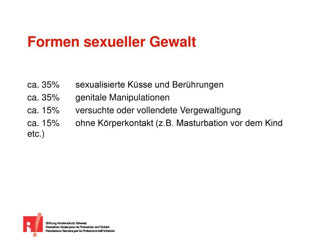 Formen sexueller Gewalt