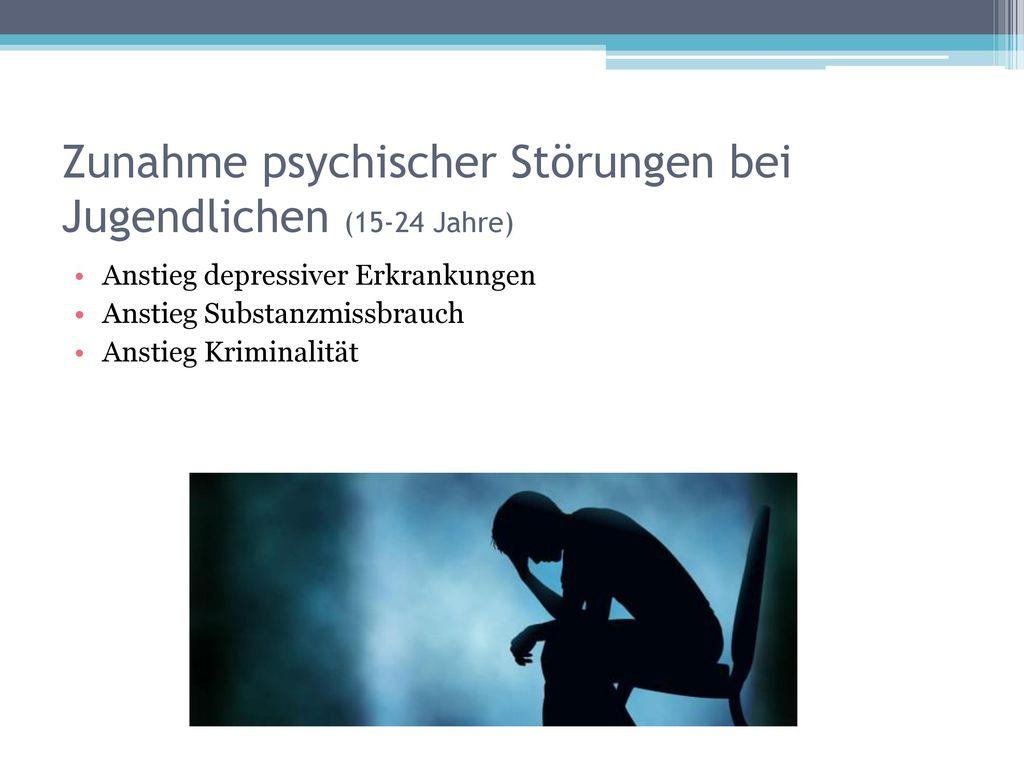 Zunahme psychischer Störungen bei Jugendlichen (15-24 Jahre)