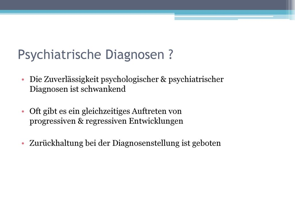 Psychiatrische Diagnosen