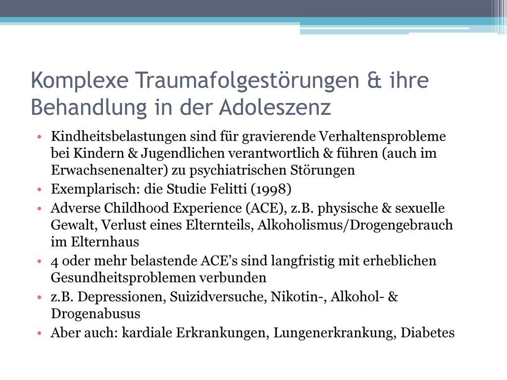 Komplexe Traumafolgestörungen & ihre Behandlung in der Adoleszenz