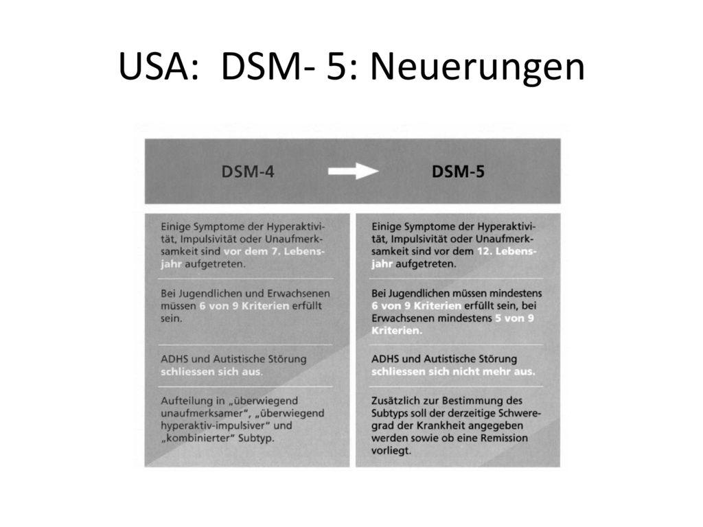 USA: DSM- 5: Neuerungen