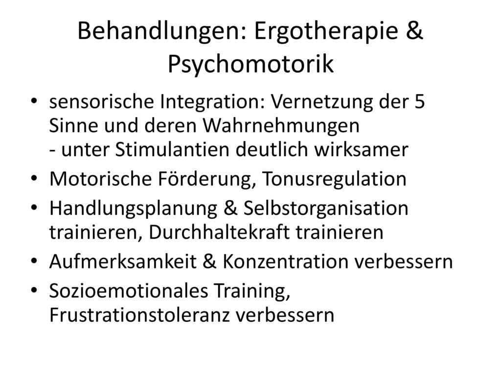 Behandlungen: Ergotherapie & Psychomotorik