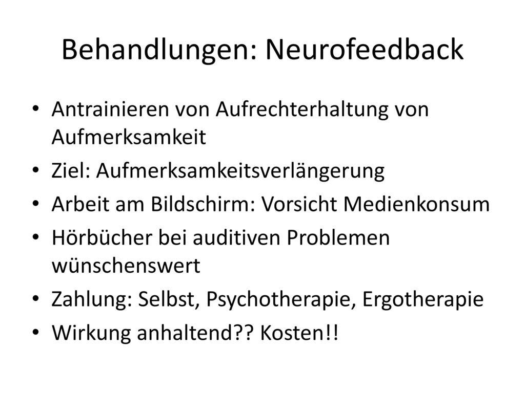 Behandlungen: Neurofeedback