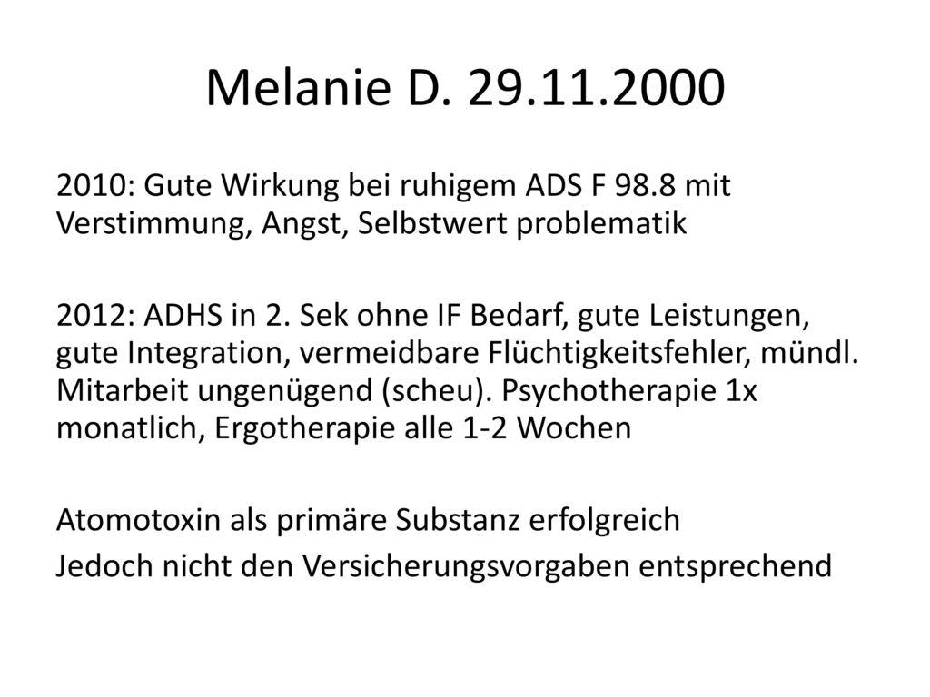 Melanie D. 29.11.2000