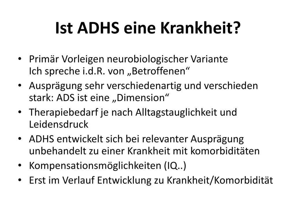 Ist ADHS eine Krankheit