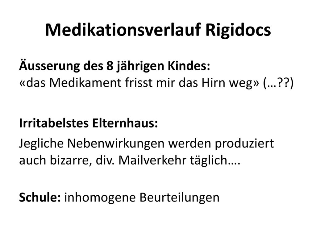 Medikationsverlauf Rigidocs