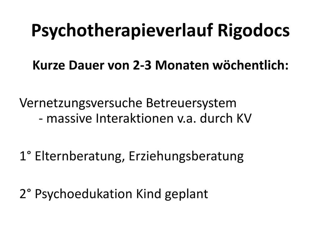 Psychotherapieverlauf Rigodocs