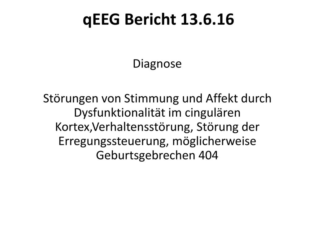 qEEG Bericht 13.6.16
