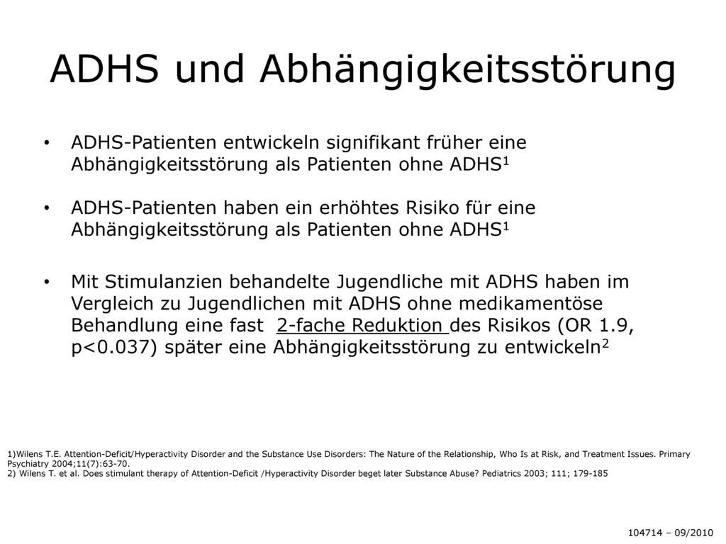 ADHS und Abhängigkeitsstörung