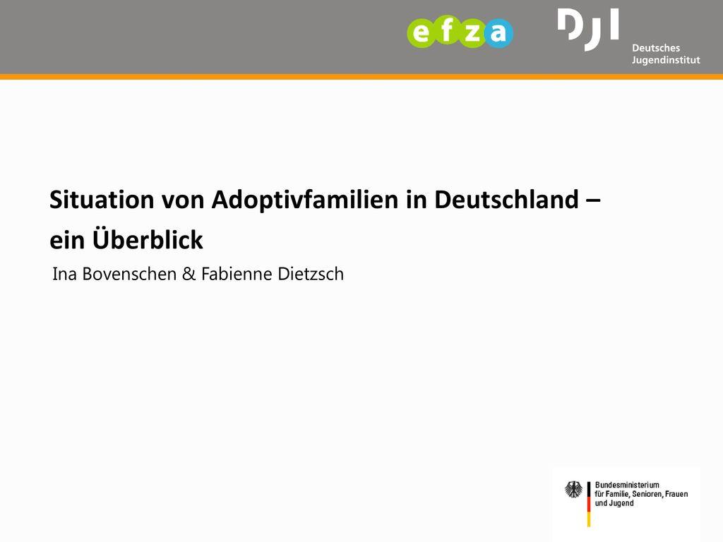 Situation von Adoptivfamilien in Deutschland – ein Überblick