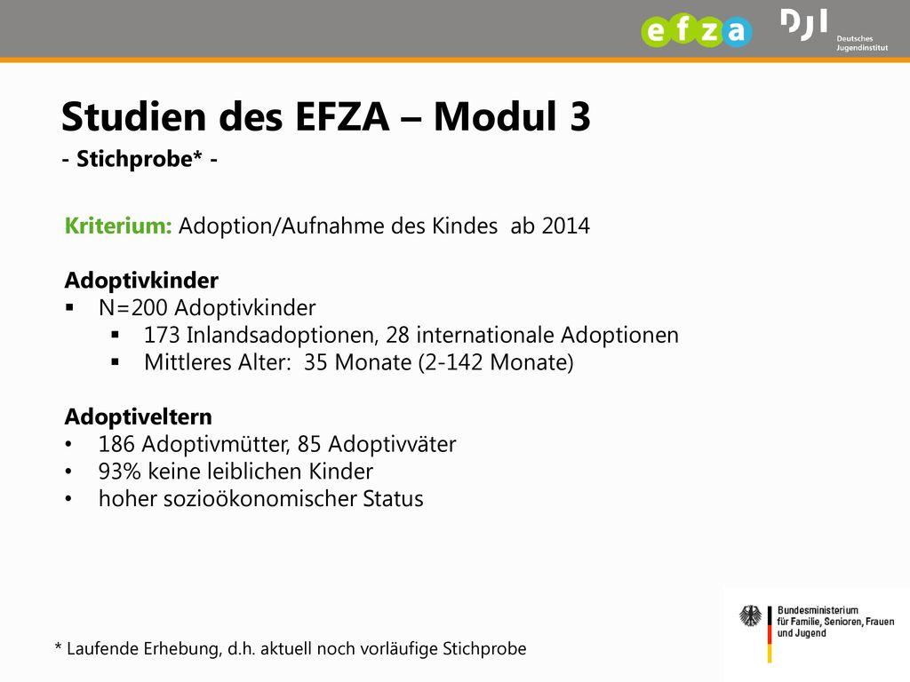 Studien des EFZA – Modul 3 - Stichprobe* -