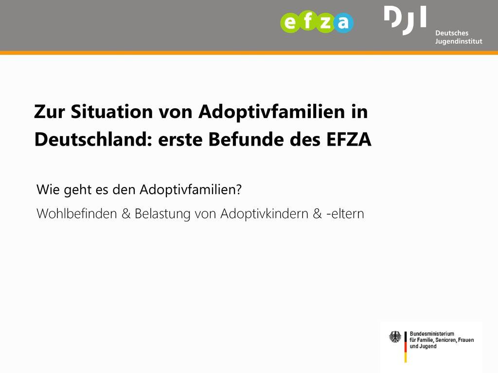Zur Situation von Adoptivfamilien in Deutschland: erste Befunde des EFZA