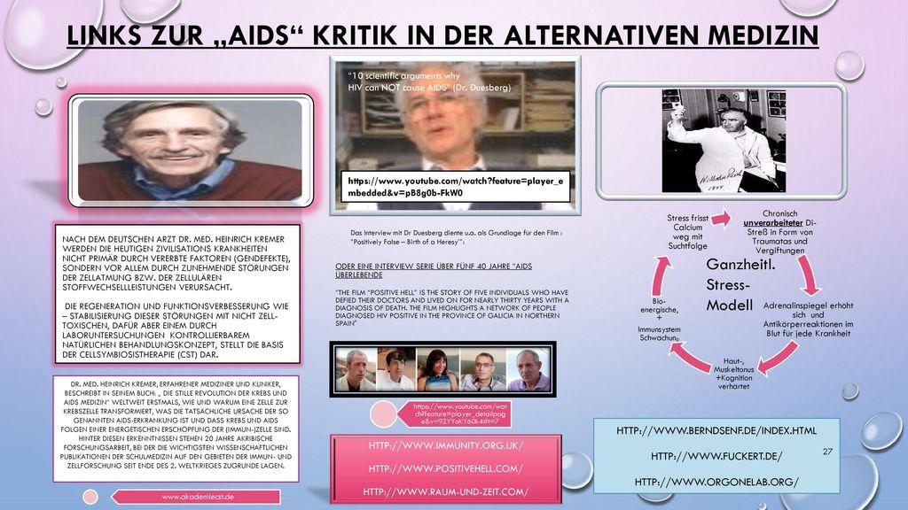 """Links zur """"AIDs Kritik in der alternativen Medizin"""