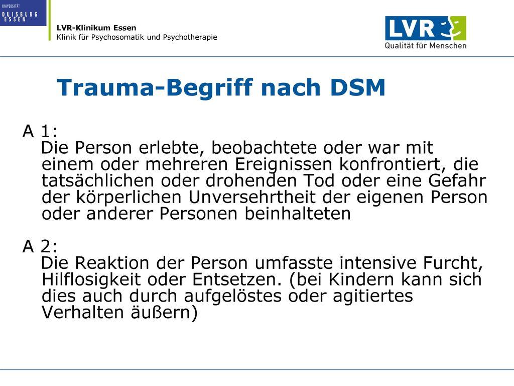 Trauma-Begriff nach DSM