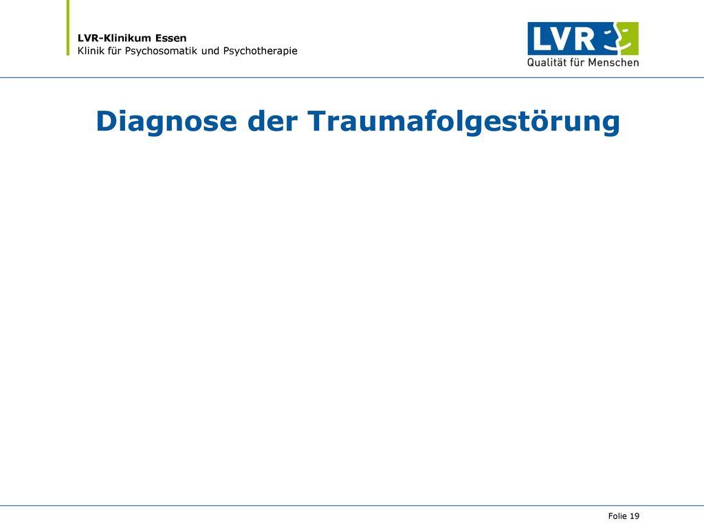 Diagnose der Traumafolgestörung