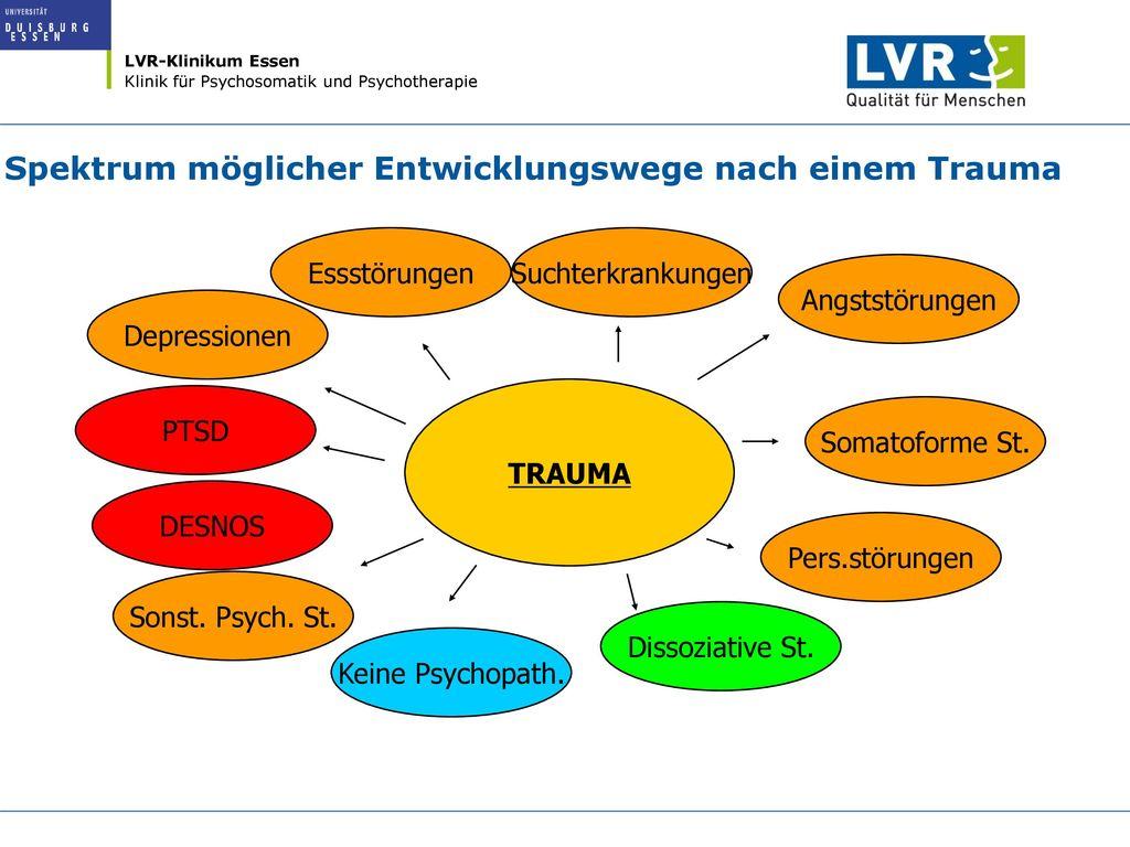 Spektrum möglicher Entwicklungswege nach einem Trauma