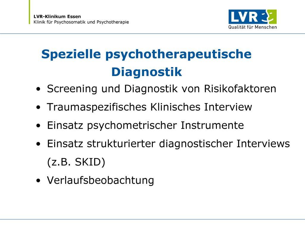 Spezielle psychotherapeutische Diagnostik