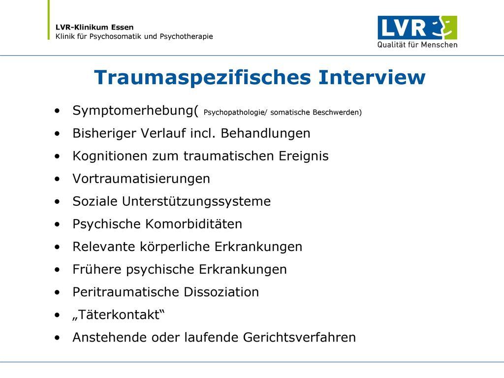 Traumaspezifisches Interview