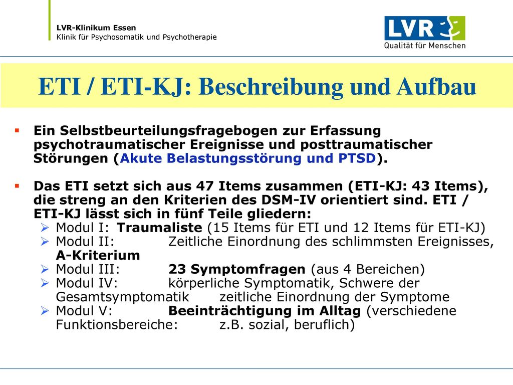 ETI / ETI-KJ: Beschreibung und Aufbau